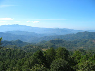 The mountains of Morazan, El Salvador